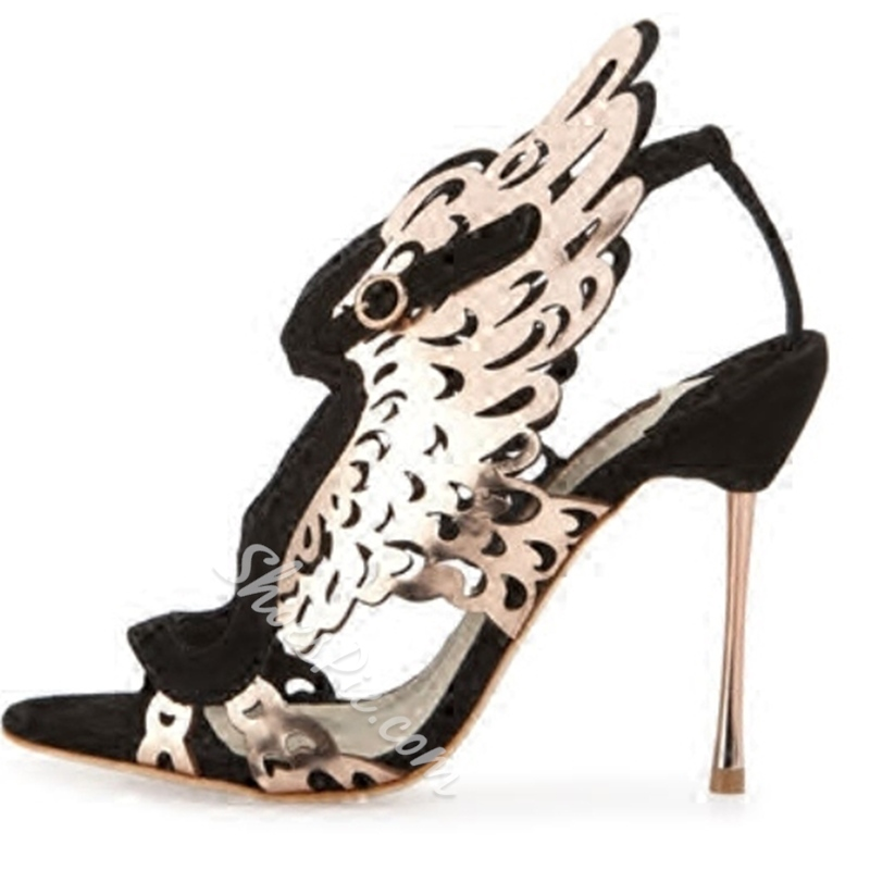 Shoespie Wild Style Butterfly Caged Dress Sandals