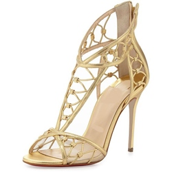 Shoespie Exquisite Golden Dress Sandals