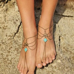Shoespie Chic Layered Anklets