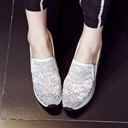Shoespie Mesh Slip On Sneakers