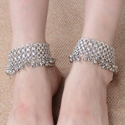 Shoespie Wide Bells Anklets