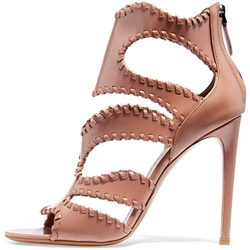 Shoespie Nude Color Purfle Dress Sandals