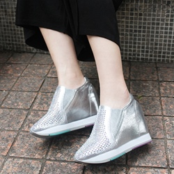 Shoespie Zipper Elevator Sneakers