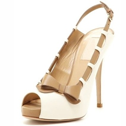 Shoespie Peep Toe Slingback Bow Dress Sandals