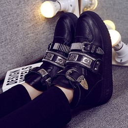 Shoespie Chic Metallic Sneakers
