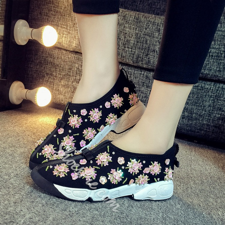 Shoespie Chic Flower Sneaker