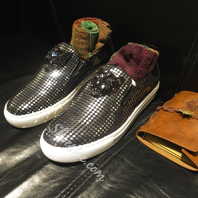 Shoespie Cool Sequined Men's Loafers