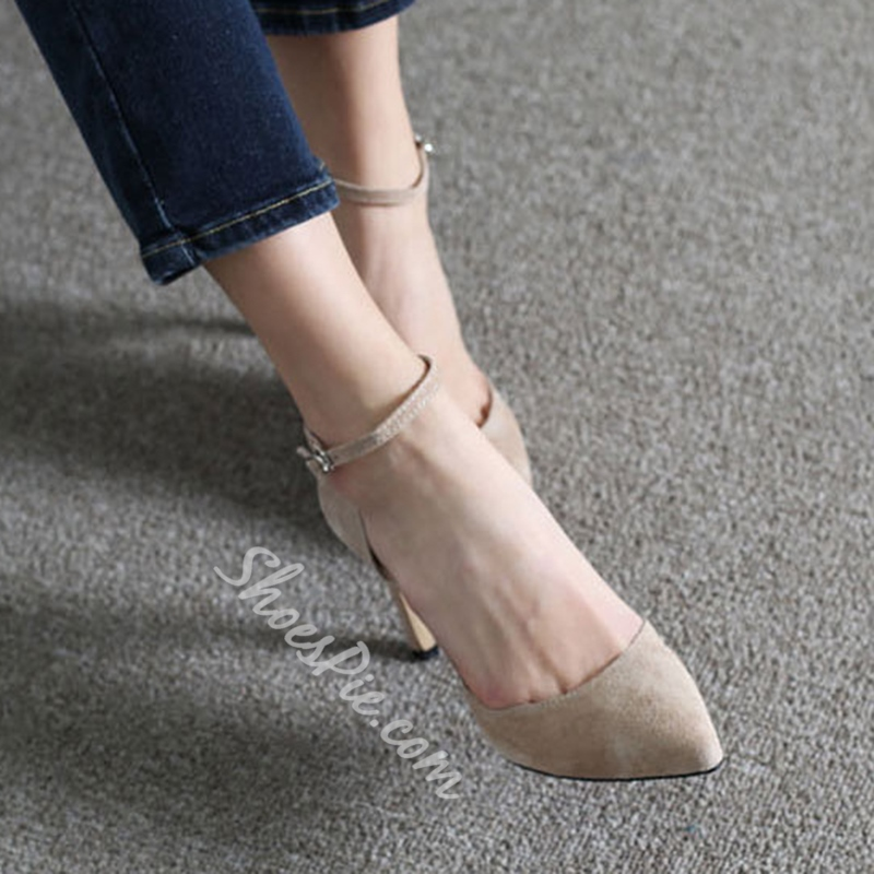 Shoespie Very Simply Ankle Wrap Stiletto Heels