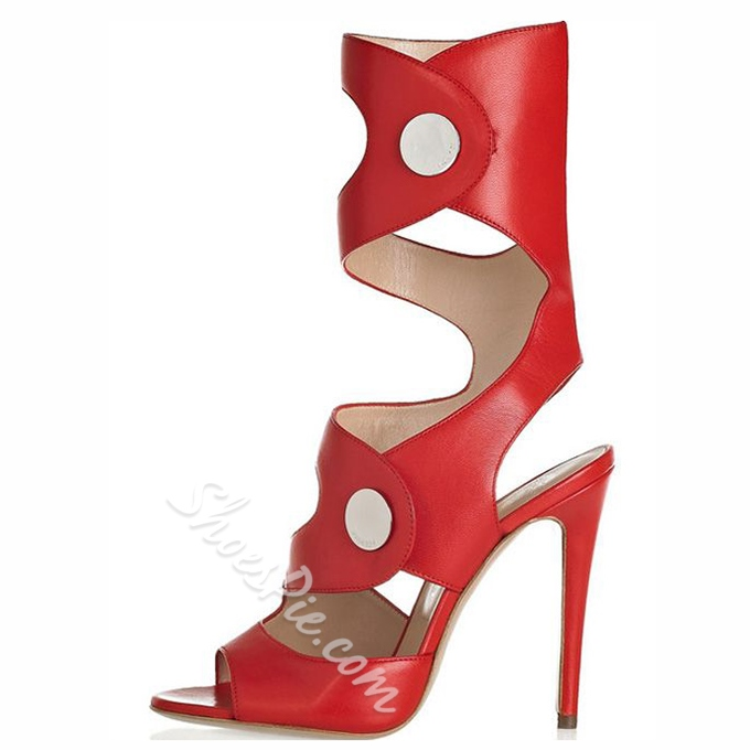 Shoespie Designer Red Sandal Boots