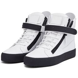 Shoespie White and Black Men's Sneakers