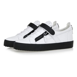 Shoespie Low Upper Black and White Men's Sneakers
