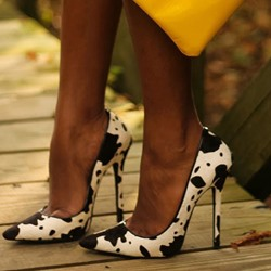 Shoespie Wild Puppy Spotty Stiletto Heels