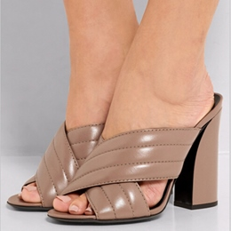 Shoespie Chunky Heel Mules