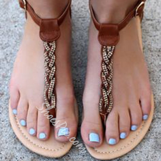 Shoespie New Arrival Thong Flat Sandals