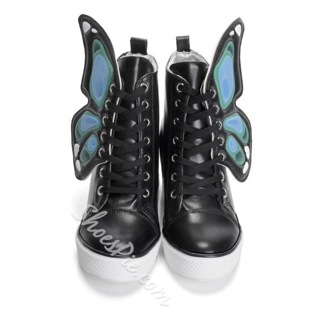 Shoespie Unique Butterfly Embellished Canvas Shoes