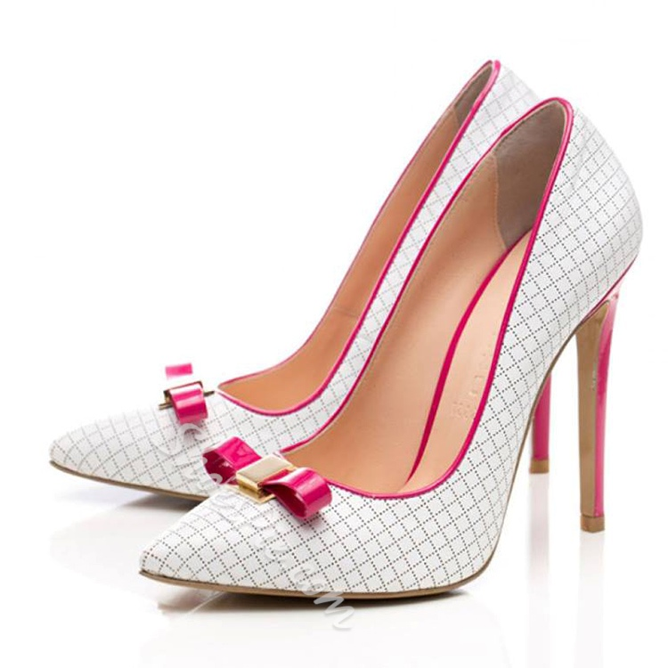 Shoespie Elegant Bowtie Stiletto Heels