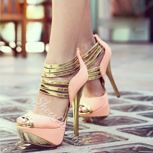 Shoespie Night Club Essential Platform Peep Toe Heels