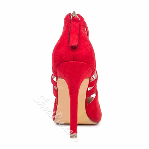Shoespie Red Cut outs Stiletto Heels