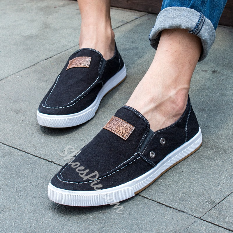ShoespieCasual Slip-On Denim Sneakers
