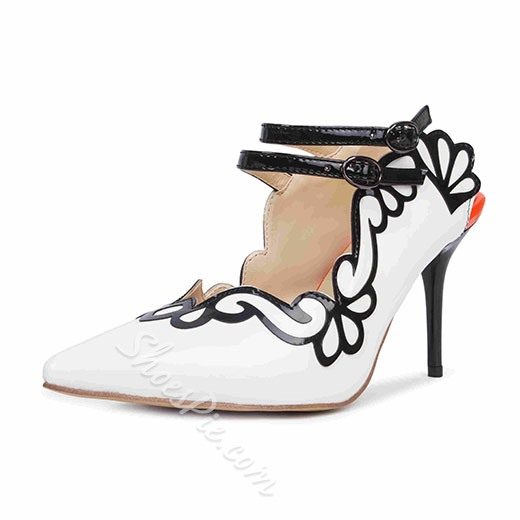 Shoespie Elegant Flower Trimmed Pointed Toe Stiletto Heels