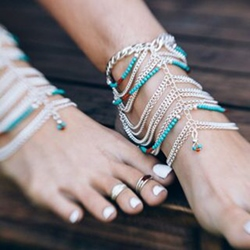Shoespie Layered Anklets