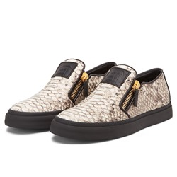Shoespie Snakeskin Print Men's Sneakers