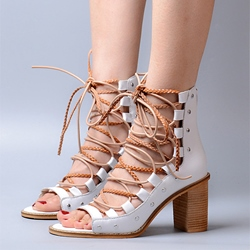 Shoespie Lace Up Sandals