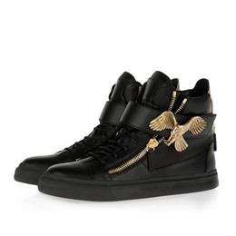 Shoespie Black Metal Eagles Men's Sneakers