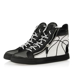 Shoespie Basketball Print Sneakers