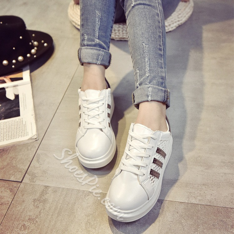 Shoespie Mesh Patchwork Sneakers