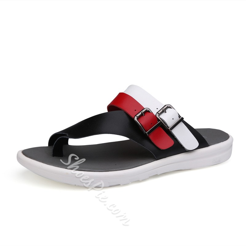 Shoespie Duo Buckle Men's Slippers