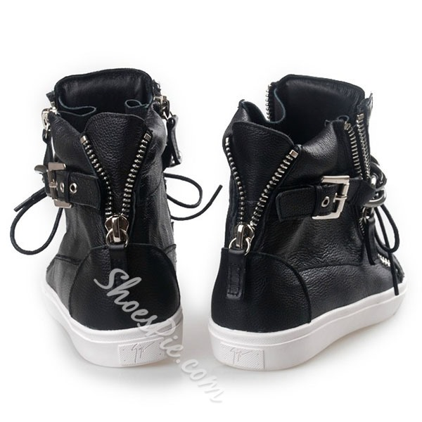 Shoespie Chains and Buckles Men's Sneakers