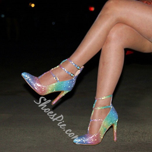 Shoespie Smart Rainbow Changing Color Stiletto Heels