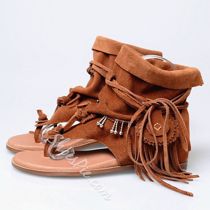 Shoespie Gladiator Flat Sandals
