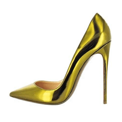 Shoespie Golden OL Style Stiletto Heels