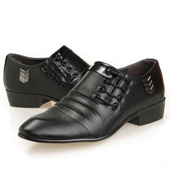 Shoespie Black Stiches Men's Shoes
