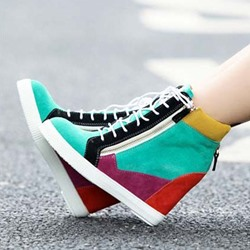 Shoespie New Arrival Color Block Sneakers