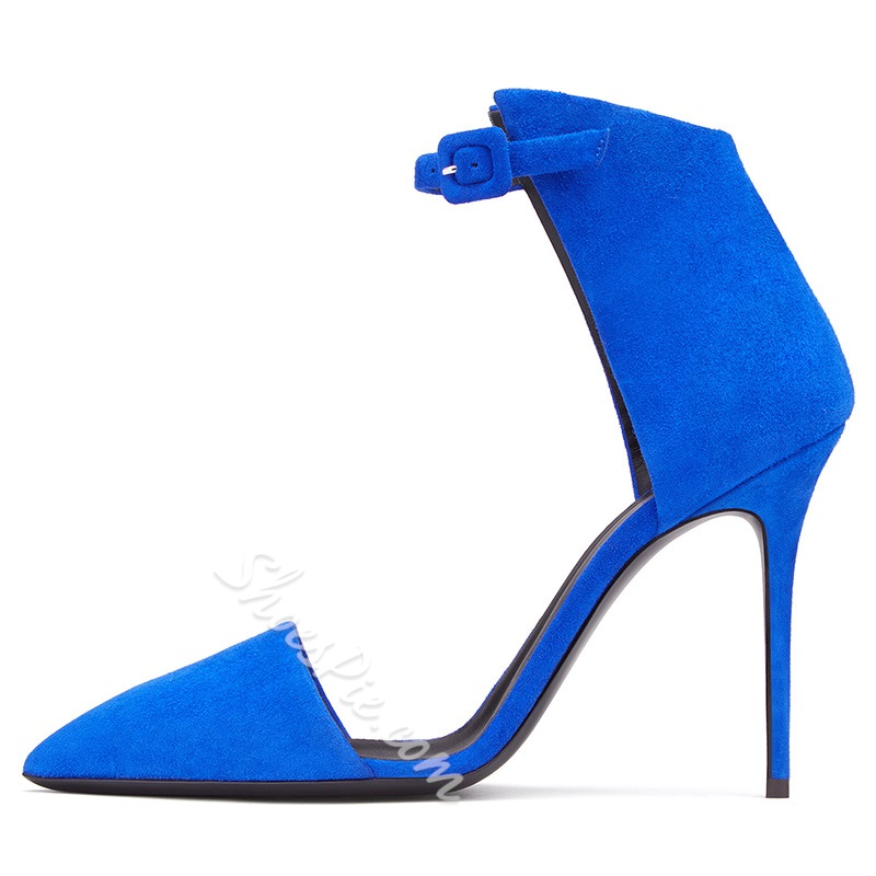 Shoespie Stylish Suede Ankle Wrap Stiletto Heels