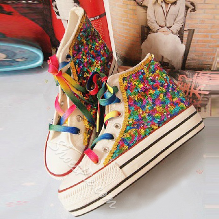 Shoespie Colorful Sequins Sneakers