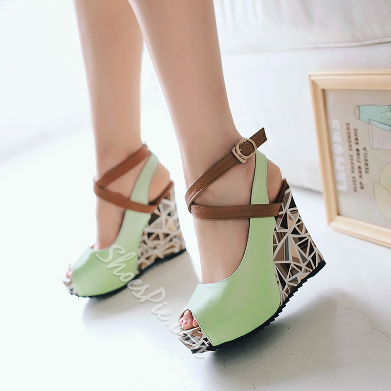 Shoespie Lolita Style Wedge Heels