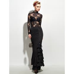 Mermaid Floor-Length Lace-Up Vintage Women's Skirt
