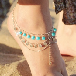 Shoespie Slouchy Layered Anklet (Single)