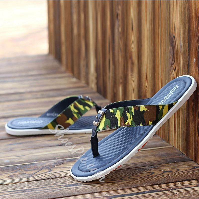 Shoespie Camo Thong Men's Slippers