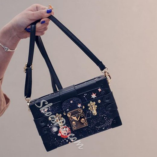 Shoespie Sequined Rhinestone Handbag