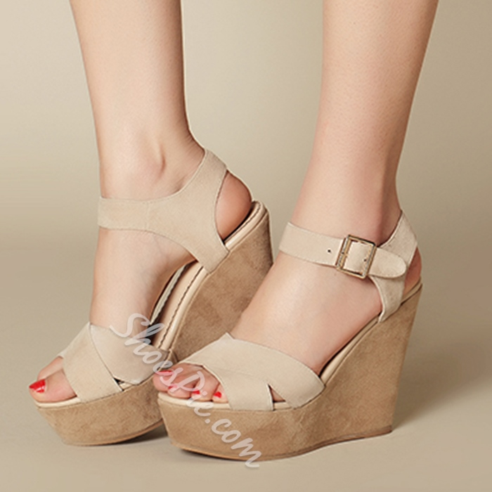 Shoespie Concise Wedge Sandals