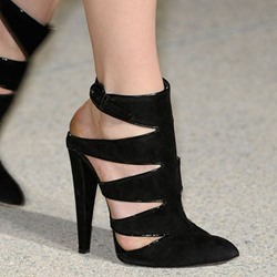 Shoespie Black Backless Court Shoes