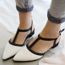 Shoespie Summer Easy Feeling Color Block Loafers