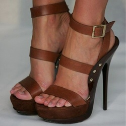Shoespie Brown Wooden Platform Sandals