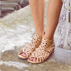 Shoespie Cutout Flat Sandals