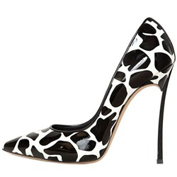 Shoespie Zebra Triangle Stiletto Heels